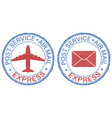 post service express air mail postmarks vector image vector image