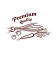 premium quality monochrome emblem vector image vector image