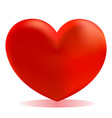 red gradient valentine heart icon vector image vector image