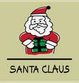 santa claus hand-drawn style vector image vector image