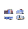set different commercial corporate office vector image vector image