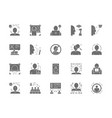 set face detection grey icons id verification vector image vector image