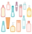 Set of cosmetics containers vector image vector image