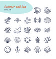 set sea icons modern of vector image vector image