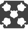 shield web icon flat design Seamless gray pattern vector image vector image