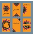 Six design of flayer for mehndi and card with vector image
