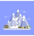 Ski Resort Mountain landscapes flat vector image vector image