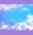 sky clouds realistic vector image