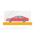 small scale car model flat isolated vector image vector image