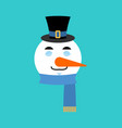 snowman sleeping emotion avatar sleep emoji face vector image vector image