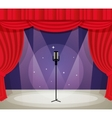 Stage with microphone vector image vector image