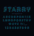 starry modern font abstract polygonal letters and vector image vector image