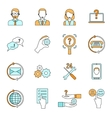 Support icons set vector image