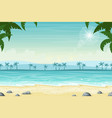 tropical beach landscape with palm trees vector image vector image