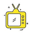 tv icon design vector image vector image