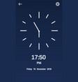 ui design clock vector image vector image