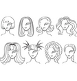 woman haircut vector image vector image