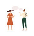 women with empty speech bubbles flat vector image
