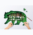 world wildlife animal vector image vector image