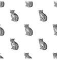 young tigeranimals single icon in monochrome vector image