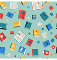 Books Seamless Pattern Different Colorful Books vector image