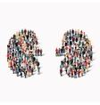 people kidney medicine crowd vector image