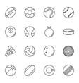 sports balls icon set on white background vector image