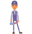 Cartoon plumber vector image