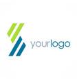 letter s line logo vector image