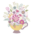 flower cup vector image
