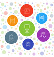 7 storage icons vector image vector image