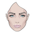 a beautiful woman s face creative fashion vector image vector image