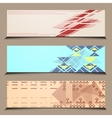 Abstract banner line design vector image vector image