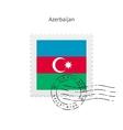 Azerbaijan Flag Postage Stamp vector image vector image