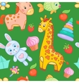 Baby toys seamless pattern animal vector image vector image