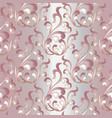baroque damask vintage seamless pattern light vector image