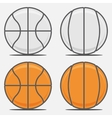 Basketball Balls for your Team Logo vector image vector image