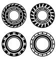 black tractor tyre symbols vector image vector image