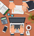 business office team work people technology desk vector image