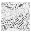 BWI what solutions are available Word Cloud vector image vector image