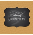 Chalkboard Christmas background with elegant text vector image vector image