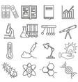 chemistry icons set on white background vector image