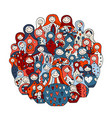 collection of russian nesting dolls matryoshka vector image vector image