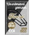 color vintage funeral poster vector image