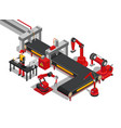 control on manufacture line vector image
