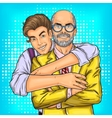 Dad and his beloved son vector image