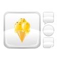 Dessert food icon with vanilla ice cream cone and vector image