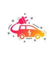 electric car sign icon hatchback symbol vector image