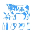 elements for milk logos labels and emblems vector image vector image