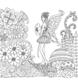 fairy in forest vector image vector image